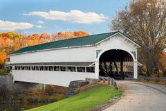 Puente cubierto en Westport Imágenes de archivo libres de regalías