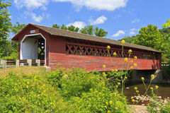 Puente cubierto de Henry en Bennington, VT Imagen de archivo
