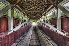 Puente cubierto interior de Glessner imagen de archivo
