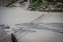 Puente dañado fotografía de archivo