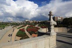 Puente de Τολέδο, Parque de Λα Arganzuela, Μαδρίτη, Ισπανία Στοκ εικόνες με δικαίωμα ελεύθερης χρήσης
