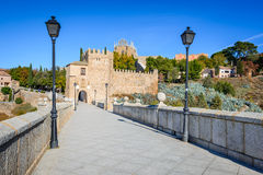 Puente de Сан Мартин, Toledo, Испания Стоковые Изображения RF