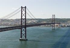 puente de 25 de Abril. Fotos de archivo libres de regalías
