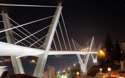 Puente de Abdoun en la noche Imagen de archivo libre de regalías