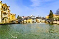 Puente de Accademia, Venecia Fotografía de archivo libre de regalías