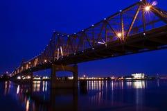 Puente de acero Fotografía de archivo libre de regalías
