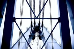 Puente de acero Imagenes de archivo