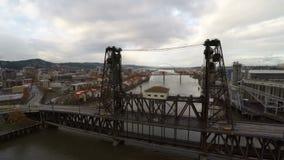 Puente de acero aéreo de Portland almacen de video