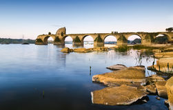 Puente de Ajuda, Olivenza Fotos de archivo libres de regalías