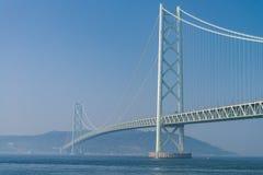 Puente de Akashi Kaikyo, el puente más largo del metal de la suspensión del mundo fotos de archivo