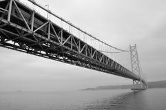 Puente de Akashi Kaikyo, Kobe, Japón Foto de archivo