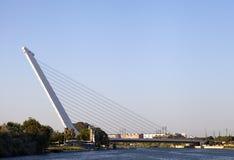 Puente de Alamillo sobre Guadalquivir, Sevilla Imagen de archivo