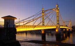Puente de Albert en la puesta del sol Fotos de archivo libres de regalías