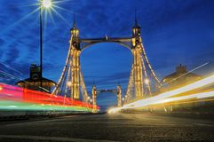Puente de Albert, Londres Imagen de archivo libre de regalías