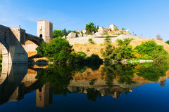 Puente De Alcantara w Toledo Hiszpania Fotografia Royalty Free