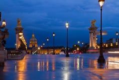 Puente de Alejandro III, París, Francia Imagen de archivo libre de regalías