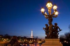 Puente de Alejandro III - París - Francia Imágenes de archivo libres de regalías