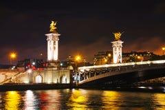 Puente de Alexander III en París Foto de archivo libre de regalías