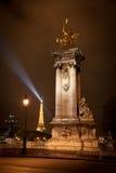 Puente de Alexander III en París, Francia Fotos de archivo