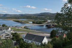 Puente de Altabru Alta imagen de archivo