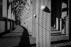 Puente de alto nivel en Newcastle sobre Tyne Imagen de archivo