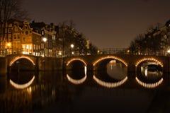Puente de Amsterdam Imagen de archivo libre de regalías