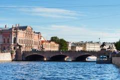 Puente de Anichkov fotografía de archivo