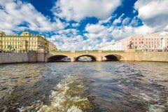 Puente de Anichkov en St Petersburg Fotografía de archivo libre de regalías