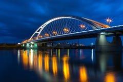 Puente de Apolo por la tarde en Bratislava fotos de archivo libres de regalías