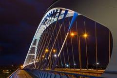 Puente de Apolo por la tarde en Bratislava imagen de archivo libre de regalías