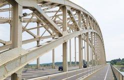 Puente de arco de acero Fotos de archivo libres de regalías