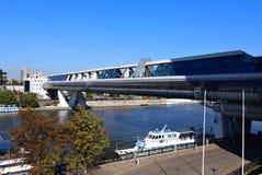 Puente de Bagration sobre el río de Moscú Imagen de archivo