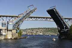 Puente de balanza, Seattle, los E.E.U.U. Fotografía de archivo
