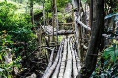 Puente de bambú Fotografía de archivo libre de regalías