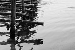 Puente de bambú Fotos de archivo libres de regalías