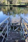 Puente de barco viejo en Pontevedra fotos de archivo libres de regalías