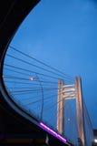 Puente de Basarab por noche Imagen de archivo