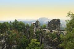 Puente de Bastei Foto de archivo libre de regalías