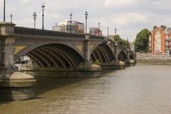 Puente de Battersea, Londres Fotografía de archivo libre de regalías
