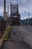 Puente de Bellaire - el río Ohio Imagen de archivo libre de regalías