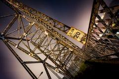 Puente de Bellaire - el río Ohio Fotografía de archivo libre de regalías