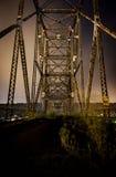 Puente de Bellaire - el río Ohio Fotos de archivo