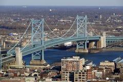 Puente de Ben Franklin de Philadelphia Imagenes de archivo