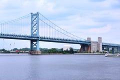 Puente de Ben Franklin, Philadelphia Fotografía de archivo