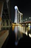 Puente de Benjamin Sheares y puente de Bayfront Fotos de archivo libres de regalías