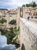Puente de Besalu Imágenes de archivo libres de regalías