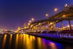 Puente de Bhumibol Fotografía de archivo libre de regalías