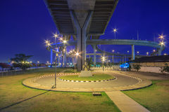 Puente de Bhumibol Foto de archivo