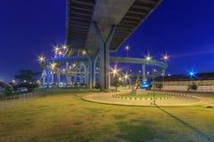 Puente de Bhumibol Fotos de archivo libres de regalías
