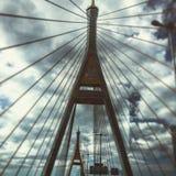 Puente de Bhumibol Foto de archivo libre de regalías